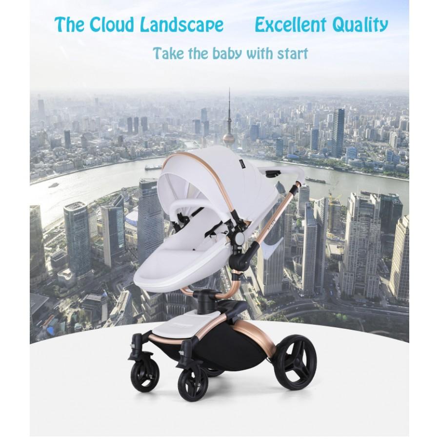 Καροτσάκι μωρού Agape λευκό 360°