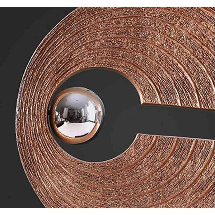 Στρογγυλό Διακοσμητικό σε χρώμα καφέ-χρυσό