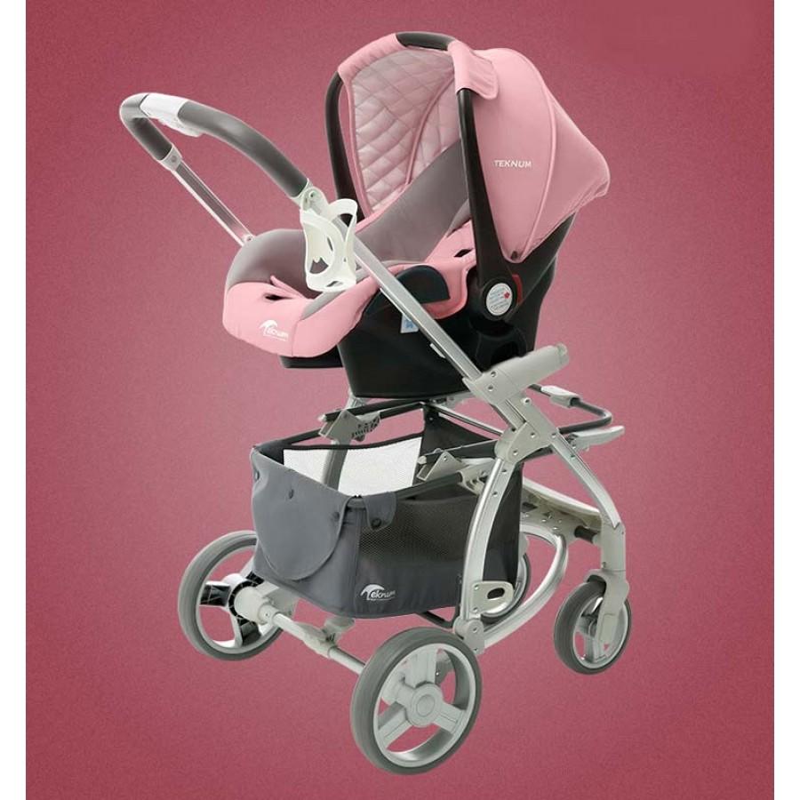 Καροτσάκι μωρού ροζ 3 σε 1