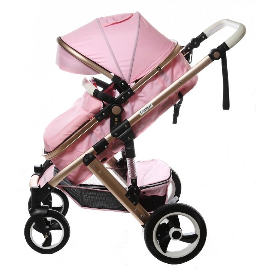 Καρότσι μωρού Cougar ροζ