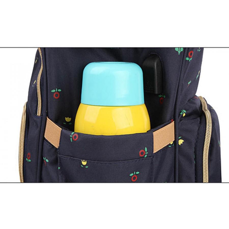 Τσάντα πλάτης μωρού μπλε με λουλούδια Eposha