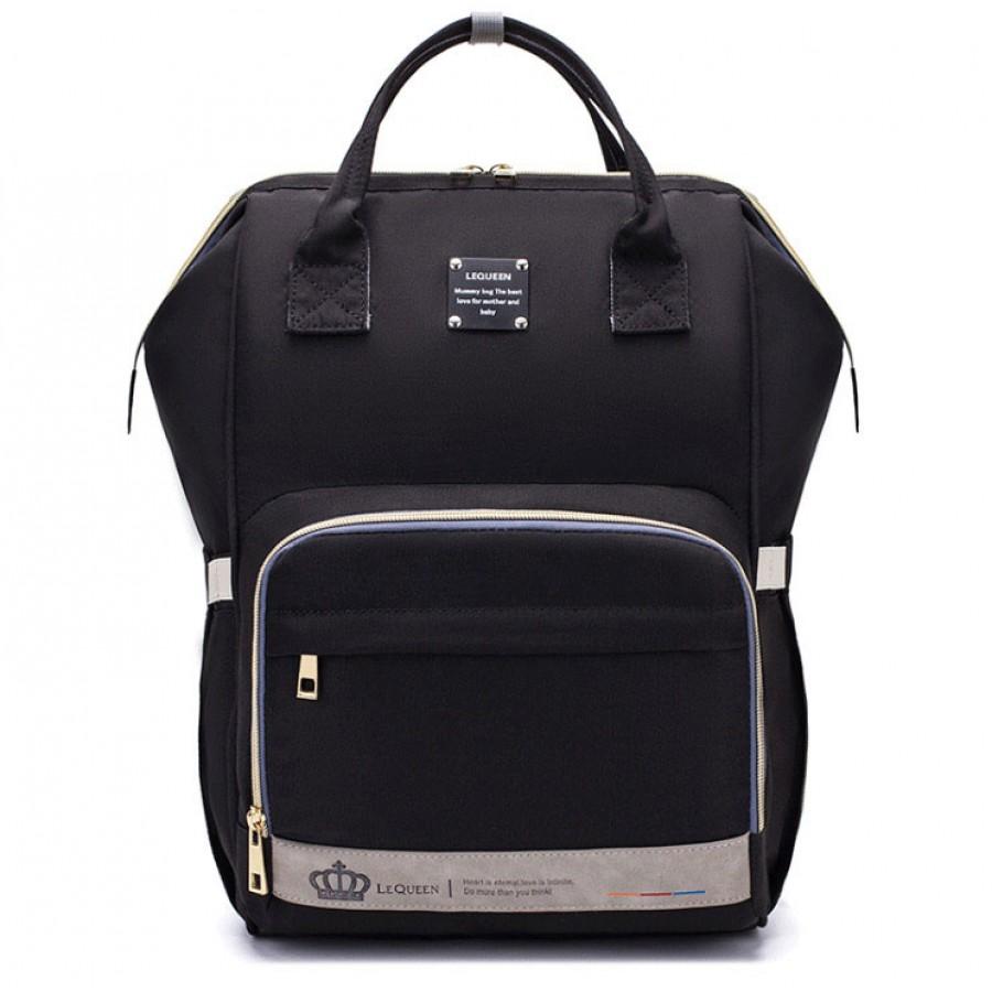 Τσάντα πλάτης μωρού LEQUEEN μαύρη