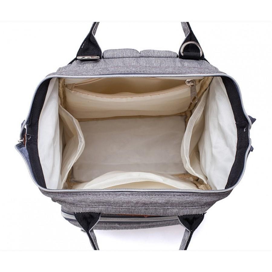 Τσάντα πλάτης μωρού LEQUEEN γκρι καπιτονέ