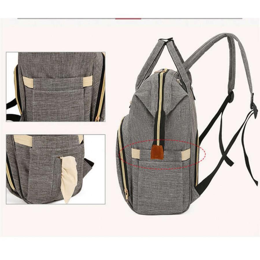 Τσάντα πλάτης μωρού μαύρη με USB LTS
